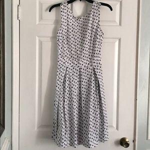 Nordstrom Black and White Bird Dress
